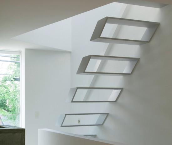 Escalera minimalista para una casa en jap n ekamm - Escaleras de caracol minimalistas ...