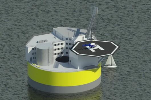 Concepto de planta nuclear flotante